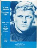 8/14 1965 St. Louis Cardinals vs Baltimore Colts Football Program