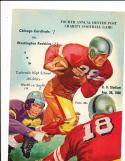 8/26 1950 Chicago Cardinals vs Washington Redskins Football Program