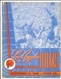 1946 11/17  Chicago Cardinals vs Los Angeles Rams football program