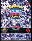 2004 1/4 Sugar Bowl football program National Championship LSU vs Oklahoma