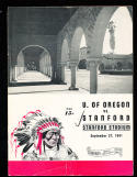 9/27 1941 Oregon vs Stanford Football Program