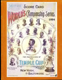 1894 Temple Cup World Championship series program opie new York vs Baltimore