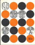 1973 Baltimore Orioles vs Oakland A's scored ALCS Playoff Program