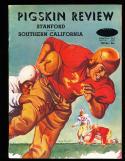 1949 11/5  USC vs Stanford  football Program - blue cover version