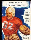 1947 9/6 Los Angeles Rams vs Washington Redskins Football Program