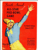 1957 seventh annual all star pro bowl NFL Game Program bxnfl