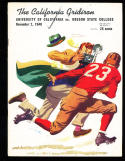 11/2 1940 California vs Oregon State Football Program