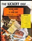 11 1968 - 1980 Western Illinois  University Football Program em condition