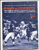 8/8 1964 Los Angeles Rams vs Dallas Cowboys Football Program