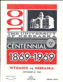 9/14 1968 Wyoming vs Nebraska Football Program