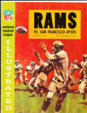 10/18 1964 Los Angeles Rams vs San Francisco 49ers Football Program