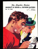 10/19 1940 Oregon  vs USC Football Program