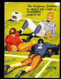 11/25 1941 California vs St. Mary's Pre Flight Football Program