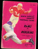 1953 8/19 rams vs redskins Football Program