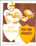 11/19 1949 City college vs New York University NYU  Football Program