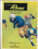 7/27 1963 Los Angeles Rams intrasquad game Chapman college Football Program