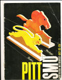 10/22 1938 Pitt vs SMU Football Program