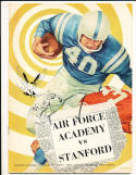 1960 10/12 Air Force Academy vs Stanford Football Program CFBbx10