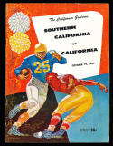 1957 10/19 USC vs California  Football Program