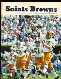 1968 8/24  New orlean Saints vs Cleveland Browns  Program nm condition