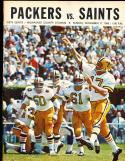 1968 11/17  New orlean Saints vs Green Bay Packers  Program em condition