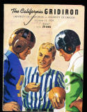 10/14 1939 Oregon vs California  Football Program