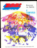 1970 11/22  New orlean Saints vs Denver Broncos  Program