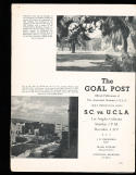 1937 12/4 USC vs UCLA Football Program