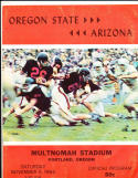 11/5 1966 Oregon State vs Arizona Football Program