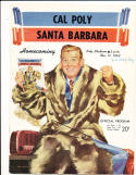 11/11 1949 Cal Poly vs Santa Barabara Football Program homecoming