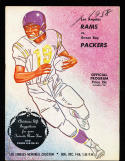1958 12/14  Los Angeles Rams vs Green Bay Packers football Program