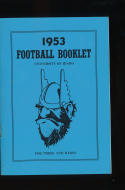 1953  University of Idaho football Press Media guide