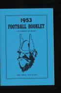 1953  University of Idaho football Press Media guide