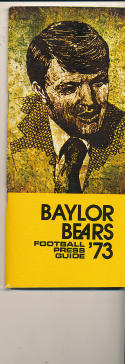 1973 Baylor Football Guide - bx73