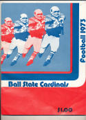 1973 Ball State Football Guide - bx73