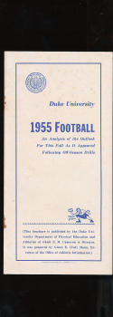 1955 Duke University football Press Media guide