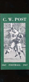1967 C.W. Post football Press Media guide