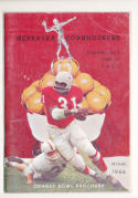 1966 Orange Bowl nebraska media Press Guide ex-em