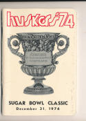 1974 Nebraska Sugar bowl media guide