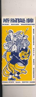 1961 Pittsburgh football Press Media guide CFBmg1