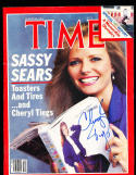 Cheryl Tiegs 1984 8/30 newsstand Time Magazine SIGNED AUTOGRAPH