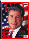 1998 3/16 John Travolta newsstand no label Time Magazine SIGNED AUTOGRAPH
