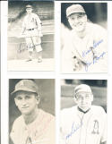 Jim Reninger Philadelphia Athletics signed Post Card head