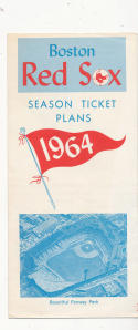 1964 Boston Red Sox ticket order form em/nm