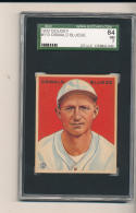 1933 goudey Oswald Bluege 113 SGC 7 84 nrmt Senators centered