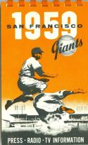 1959 San Francisco Giants Press Media Guide em - nm