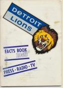 1963 Detroit Lions Media Guide, Excellent / Excellent Mint