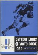 1964 Detroit Lions Media Guide, Excellent Mint