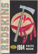 1964 Washington Redskins Media Guide, Excellent Mint
