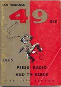 1965 San Francisco 49ers nfl Media press Guide, Very Good /Excellent